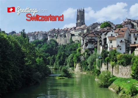 switzerland fribourg travel cards send real postcards