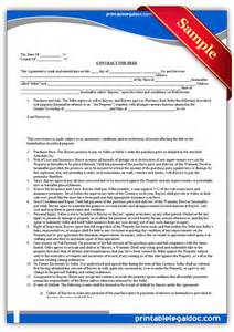 Free Contract For Deed Template by Free Printable Contract For Deed Forms Template