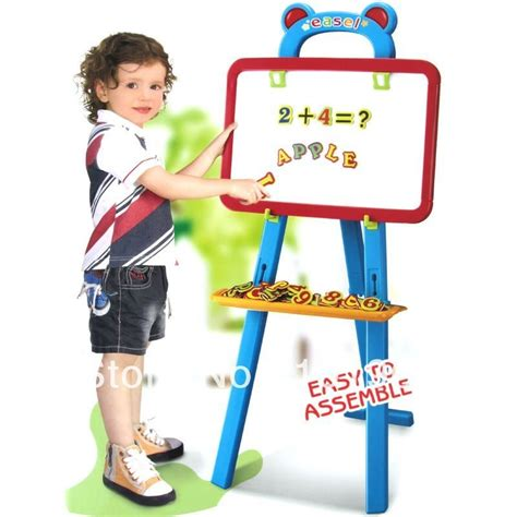 Lq 06 555 Celline 2in1 Set adjustable easel with small paint crate childrens