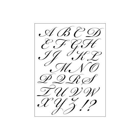 lettere maiuscole timbri acrilici alfabeto corsivo maiuscolo timbri