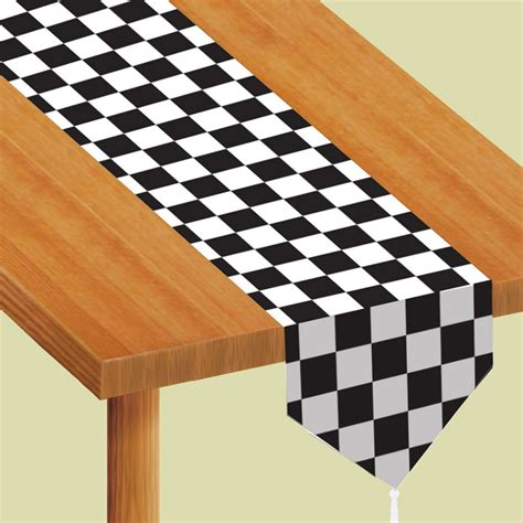 black and white checkered table runner decorating tips for a nascar windy city novelties