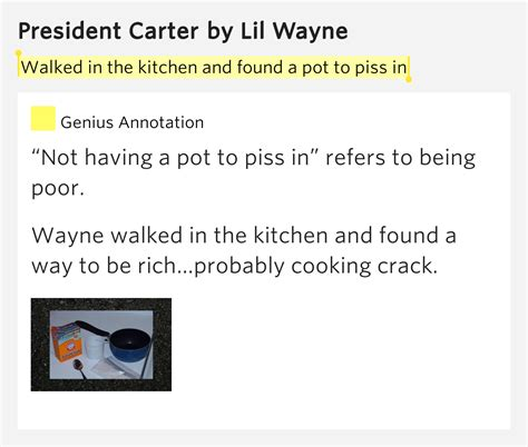 In The Kitchen Lyrics by Walked In The Kitchen And Found A Pot To In