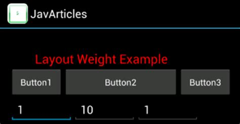 set layout weight java android layout weight android exle
