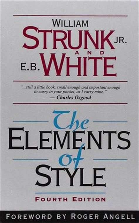 steunk style the elements of style by william strunk jr reviews