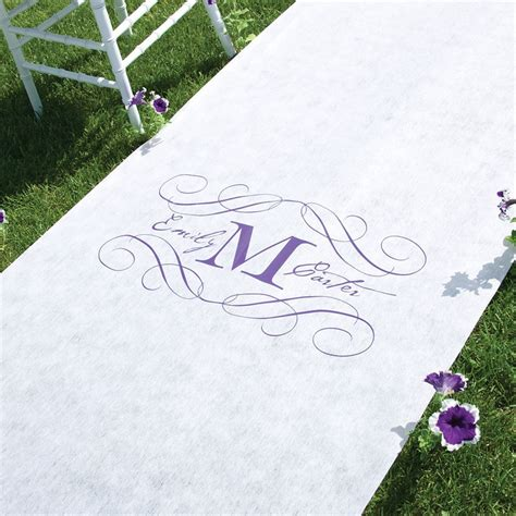 Wedding Aisle Runner Monogram monogram aisle runner invitations by