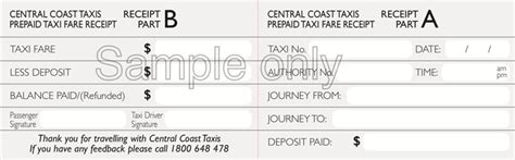pre paid rent receipt template free sle prepaid taxi receipt pdf 52kb 1 page s