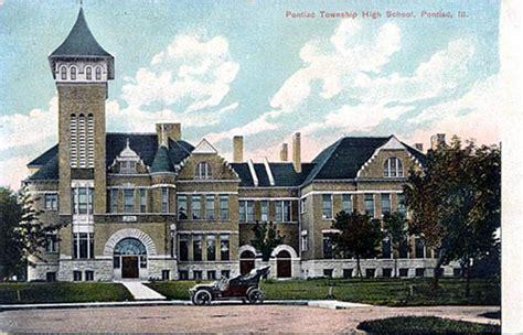 pontiac township high school postcards from livingston county illinois