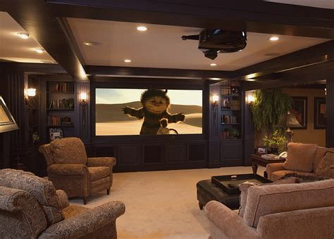 basement media room 15 cool and minimalist home theater design with sofa