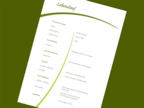 Lebenslauf Vorlagen Pages Kurzbewerbung Schreiben