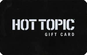 Hot Topic Gift Card - free hot topic 5 gift card