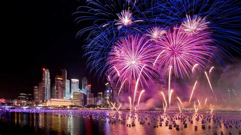 singapore new year singapore new years fireworks city at hd