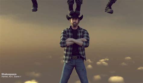 chuck norris parodies van dammes leg split commercial geekologie