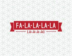 items similar to fa la la customizeable print on etsy - Lã Ufer Fã R Flur