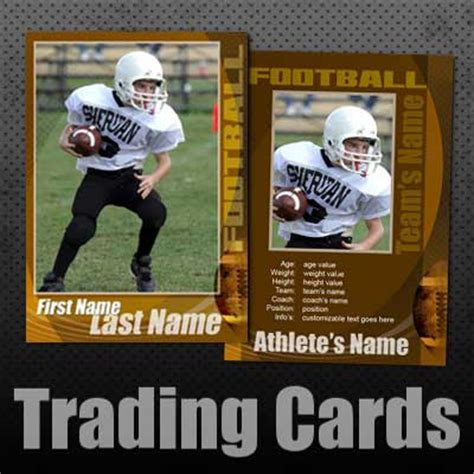 football card template 16 free football psd photoshop templates images football