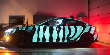 Light Up Paint by Lumilor Makes Tesla Model S Into Electric Light Show