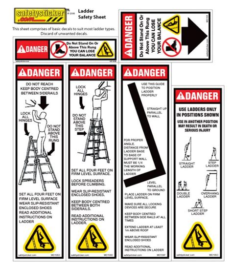 Ladder Safety Stickers warning may contain peanuts page 5