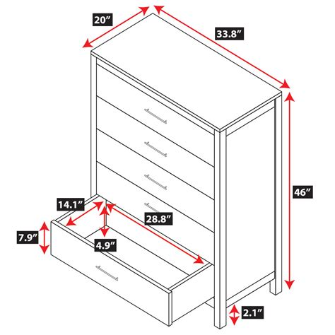 built in dresser dimensions niko 5 drawer dresser epoch design