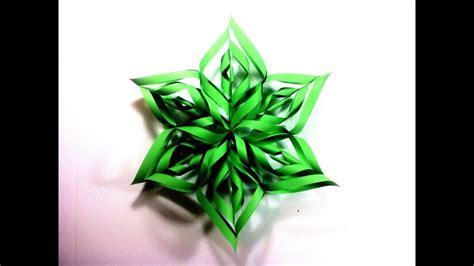 como hacer estrellas de navidad c 243 mo hacer una estrella de navidad 3d de papel tutorial diy