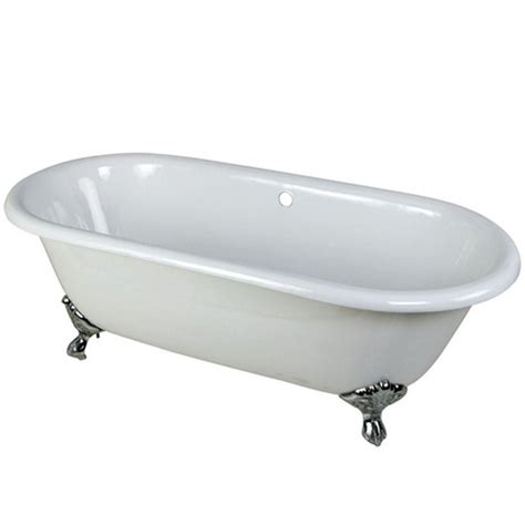5 Foot Cast Iron Bathtub by Aqua 5 5 Ft Cast Iron Polished Chrome Claw Foot
