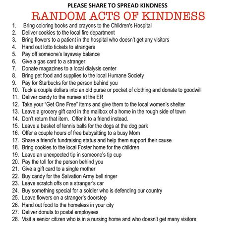 28 random acts of kindness inspired by you random acts of kindness with leigh