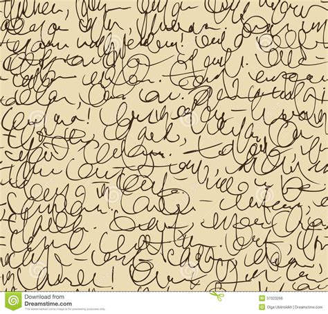pattern writing letter script seamless background sketch of writing calligraphy