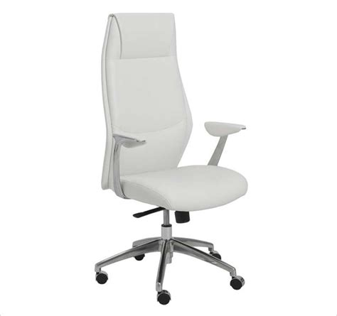 crosby high back white office chair office chairs
