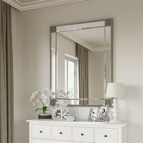 large rectangle mirror   gold  silver frame
