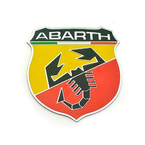 abarth aluminium emblem with adhesive