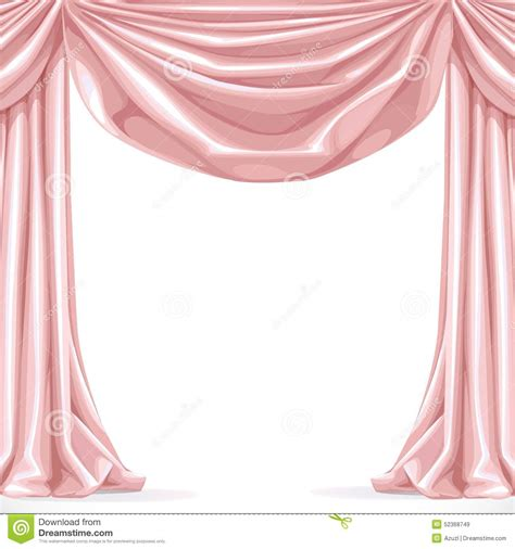 Big pink curtain stock vector illustration of curtain 52368749