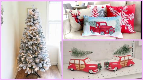 christmas home decor online christmas home decor haul new flocked christmas tree youtube