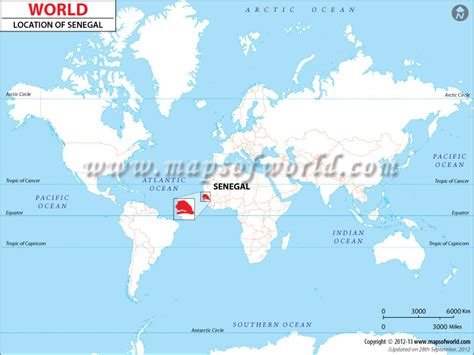 where is senegal on the world map where is senegal location of senegal