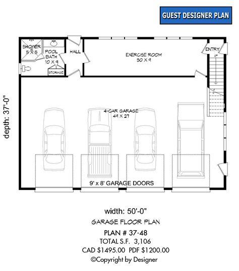 garage floor plans free garage plan 37 48 house plans by garrell associates inc
