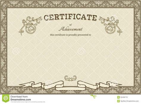 design frame for certificate vintage frame printable vintage background
