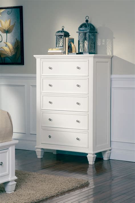 furniture bedroom furniture chest coaster 201305 coaster furniture 201305 sandy beach 5 drawer chest white