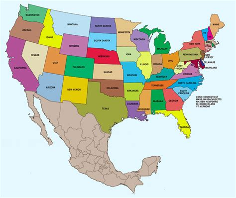 map of the united states and mexico best photos of map of usa and mexico us and mexico map