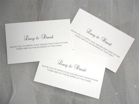 Wedding Guest Best Wishes Cards
