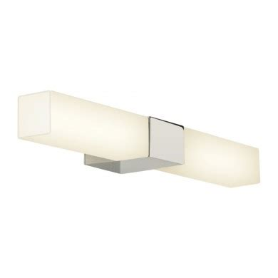 Chrome With White Glass 28w G9 Ip44 Double Insulated Insulated Bathroom Lights
