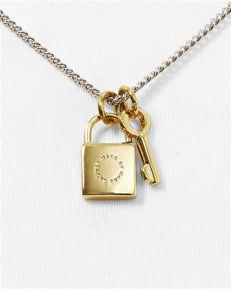 Marc Padlock Key Necklace by Lyst Marc By Marc Lock Key Pendant Necklace 17