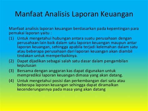 manfaat membuat neraca analisis laporan keuangan