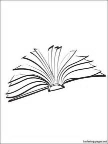 open book coloring coloring pages