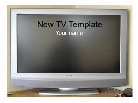 New Television Frame Template Tv Powerpoint Template
