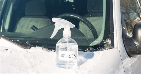 windshield de icer spray