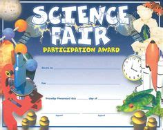 science fair participation certificate template 1000 images about science fair on science