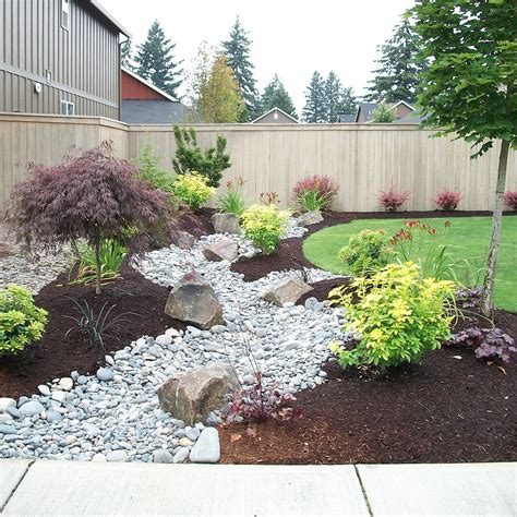 Yard With Decorative Rock Landscaping Ideas Blooming by Concept Rock Landscaping Ideas For Front Yard