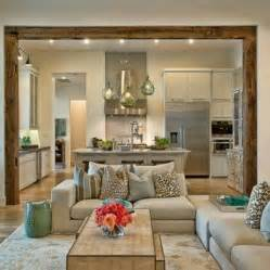 Decorating Ideas For Open Living Room And Kitchen by Open Concept Living Room Home Sweet Home Pinterest