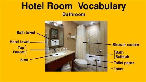 Bath Shower Mat hotel room vocabulary