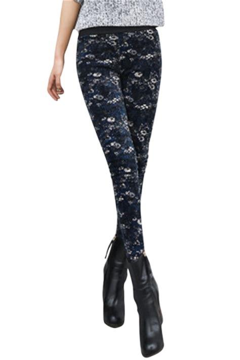 lined patterned leggings womens lined patterned high waisted leggings navy blue