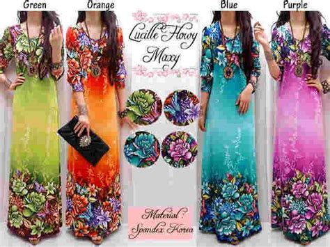Dress Maxi Wanita Muslim Printing Namira Xl model baju terbaru