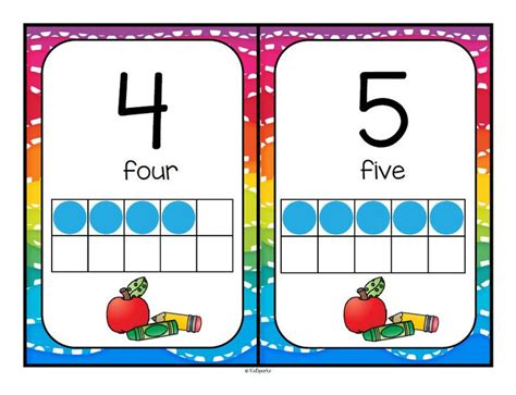 printable number posters 1 20 back to school theme number posters with 10 frames 0 20
