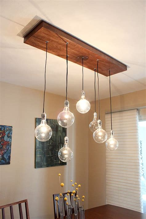 Diy Dining Room Light Diy A Rustic Modern Chandelier Indignant Corgi Another Light Fixture I